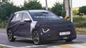 2022 Kia Niro EV electric front spy shot