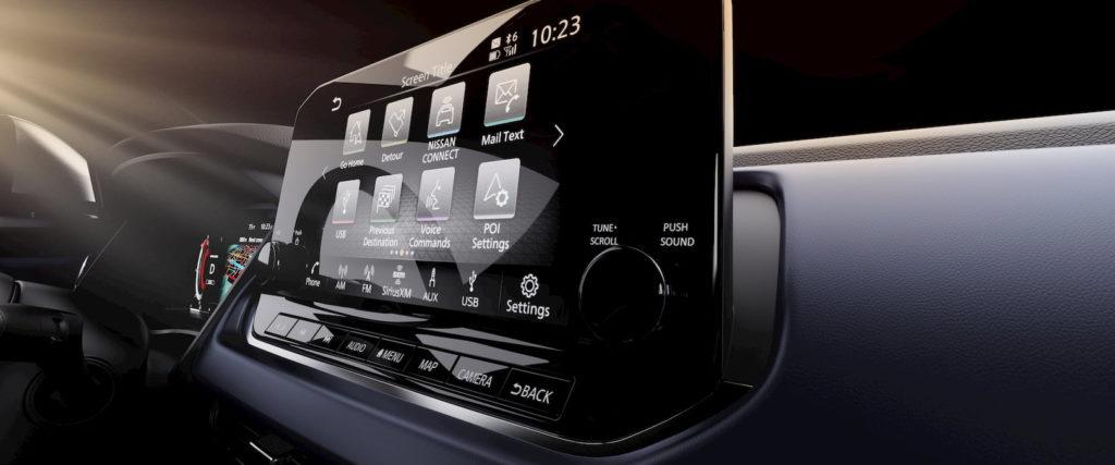 2022 Nissan Rogue Sport infotainment display