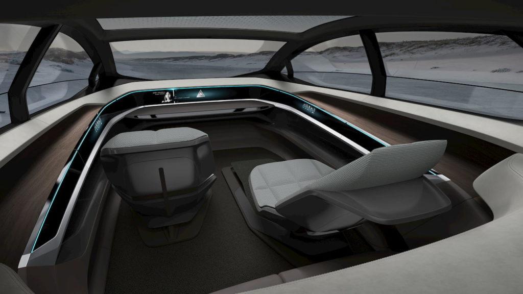 Audi Aicon concept interior dashboard