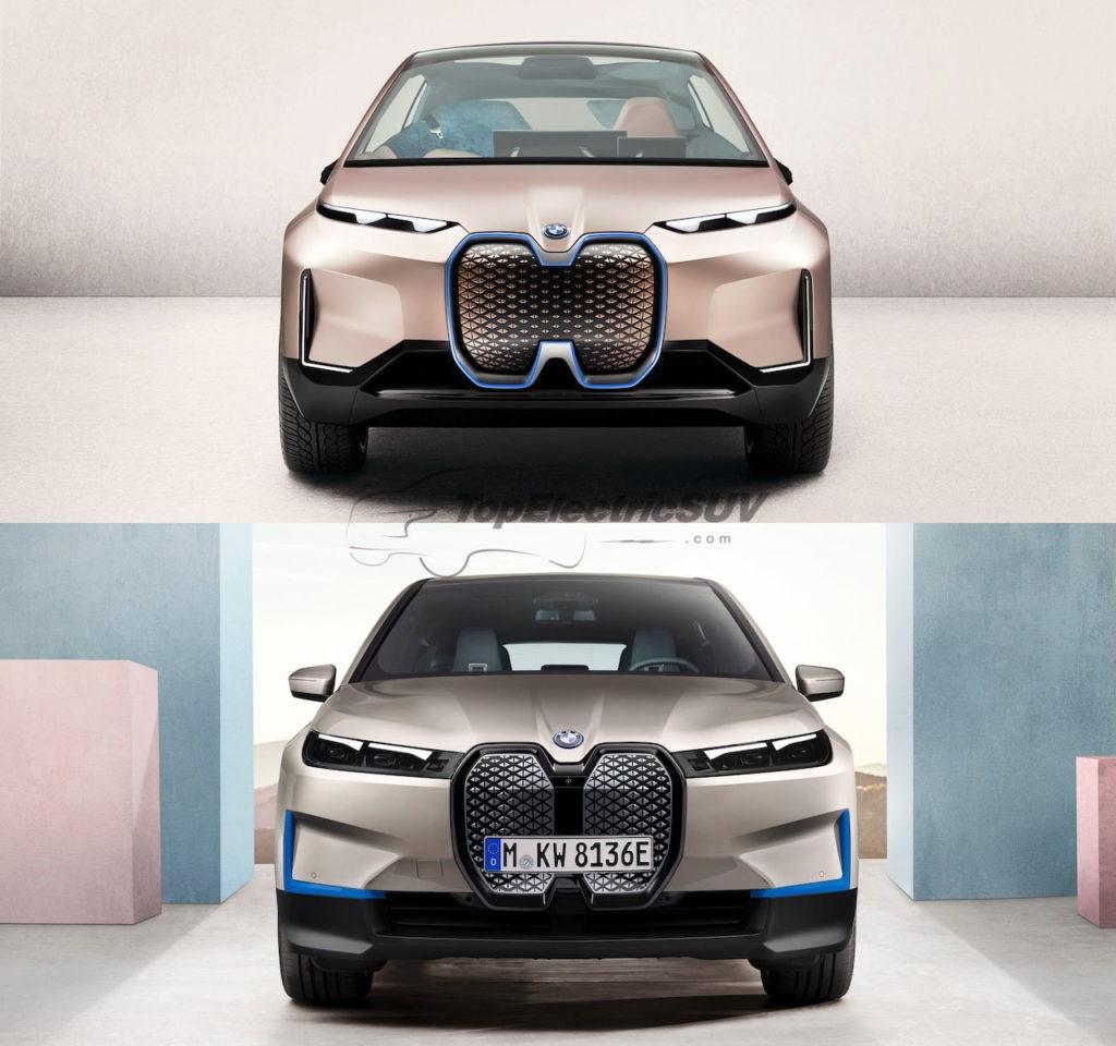 BMW iNEXT concept vs. BMW iX front