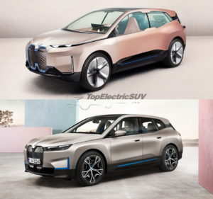 BMW iNEXT concept vs. BMW iX front quarters