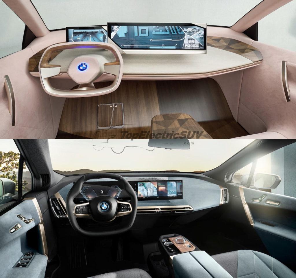 BMW iNEXT concept vs. BMW iX interior dashboard