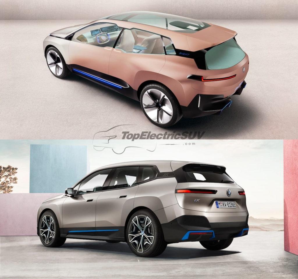 BMW iNEXT concept vs. BMW iX rear quarters