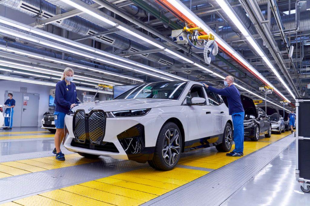 BMW iX front quarters Dingolfing plant