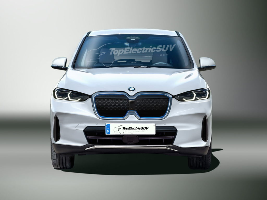 BMW iX1 front view rendering TopElectricSUV