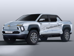 Chevrolet BET electric pickup Truck (Chevrolet Silverado electric) render