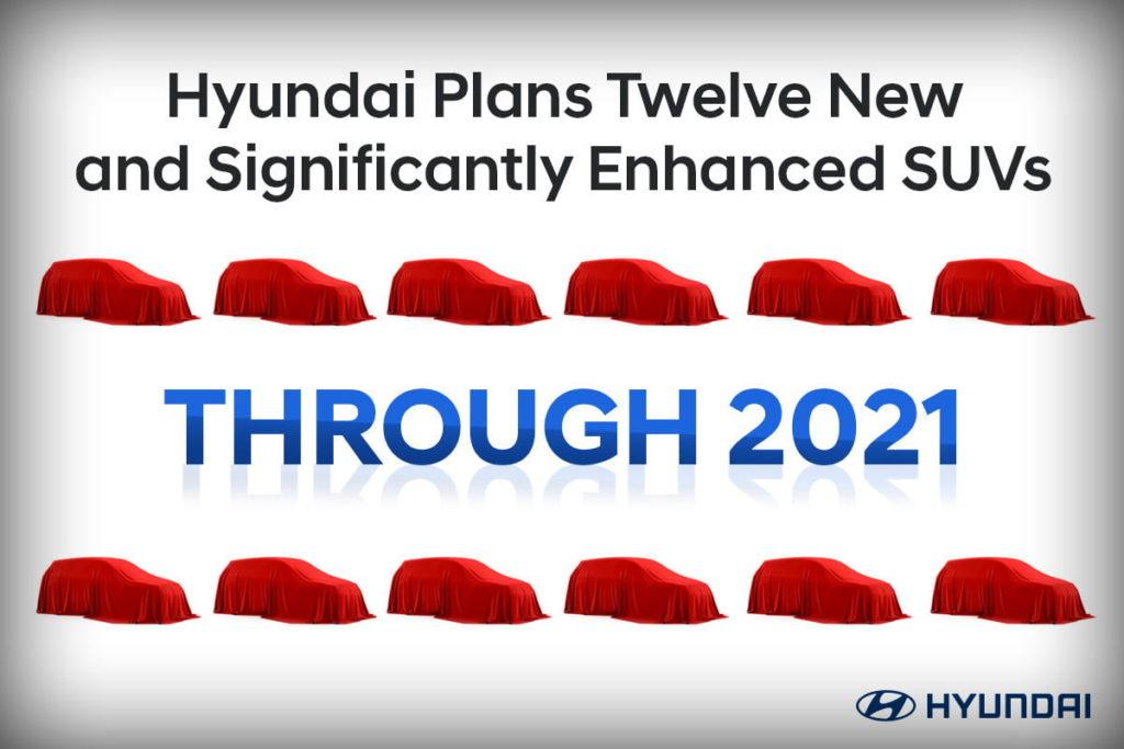 Future Hyundai US SUV lineup 2021