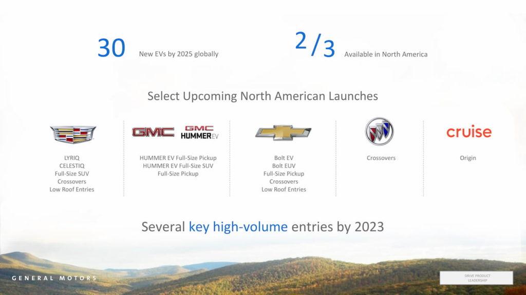 GM EV future models