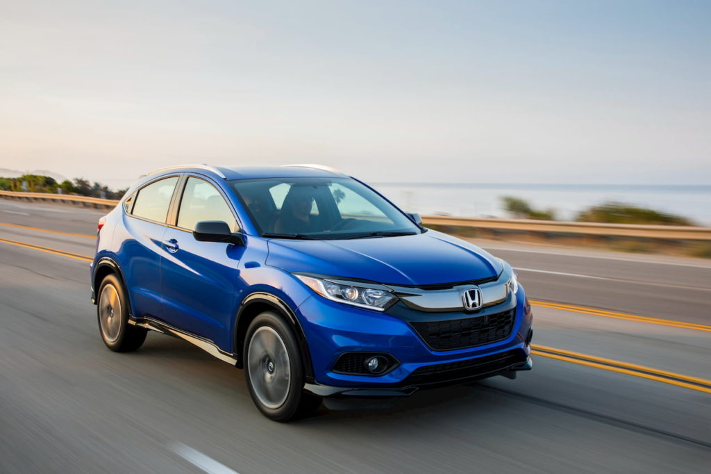 Honda HR-V facelift front three quarters