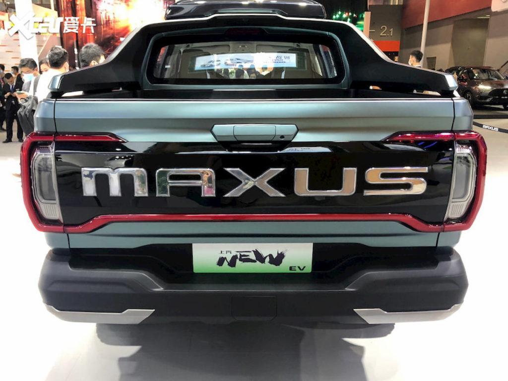 Maxus New EV pickup truck concept rear quarters