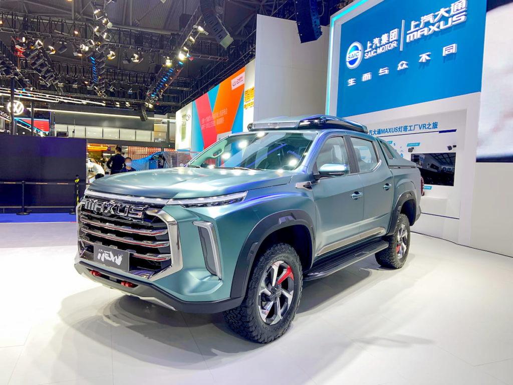 Maxus New pickup truck concept Chengdu front quarters