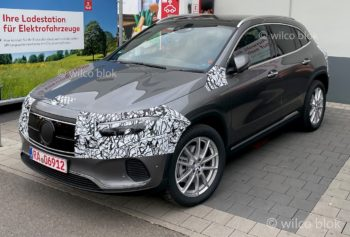 Mercedes EQA snapped almost camo-free in Germany