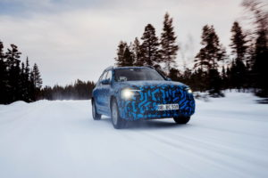 Mercedes EQB prototype front quarters
