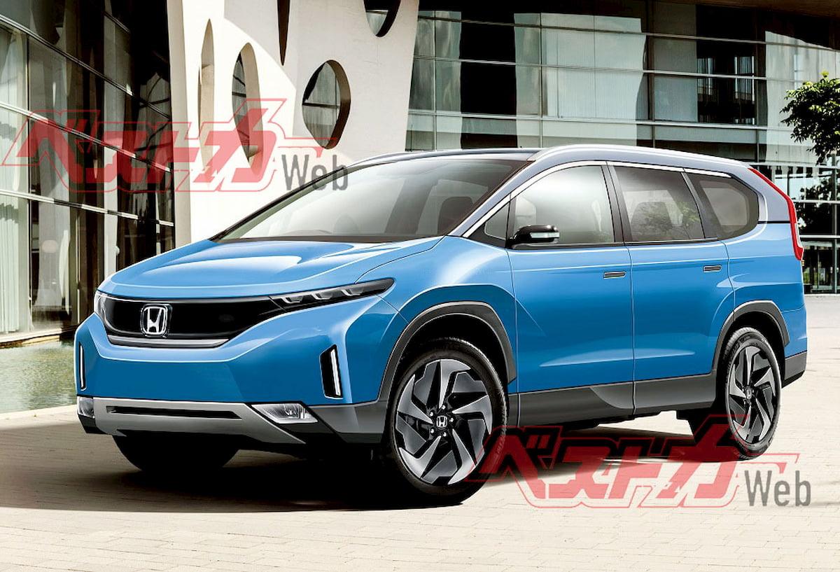 Next-gen Honda CR-V EV rendering