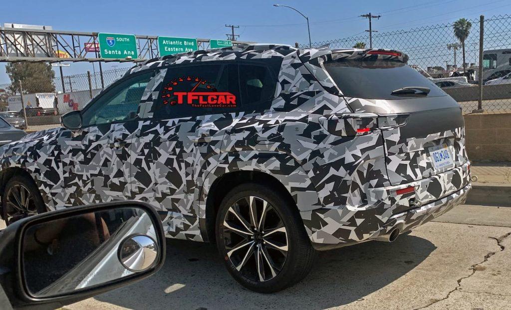 Next-gen Mazda CX-5 rear three quarters spy shot