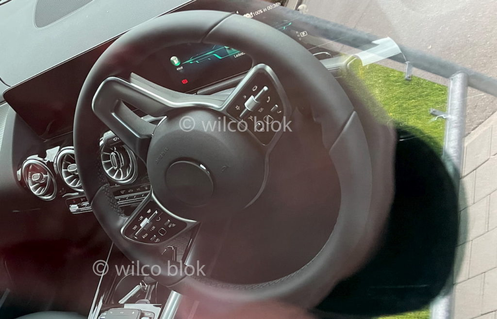 Interior of the Mercedes EQA exposed ahead of Jan 20 ...