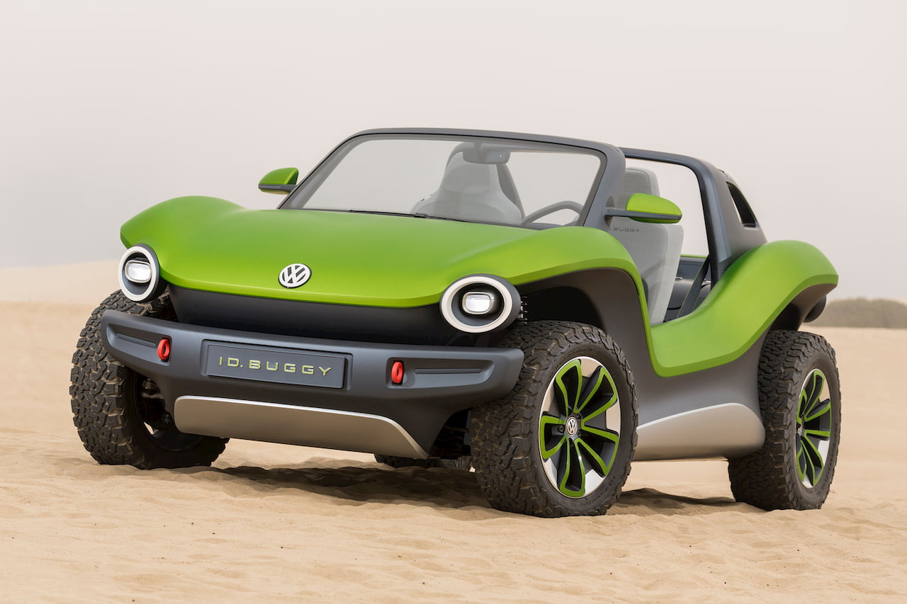 VW ID. Buggy front quarters beach