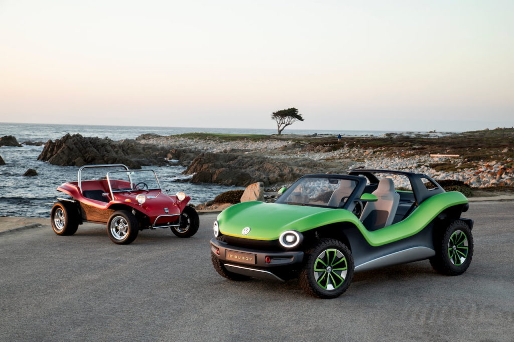 VW ID. Buggy front quarters dune buggy