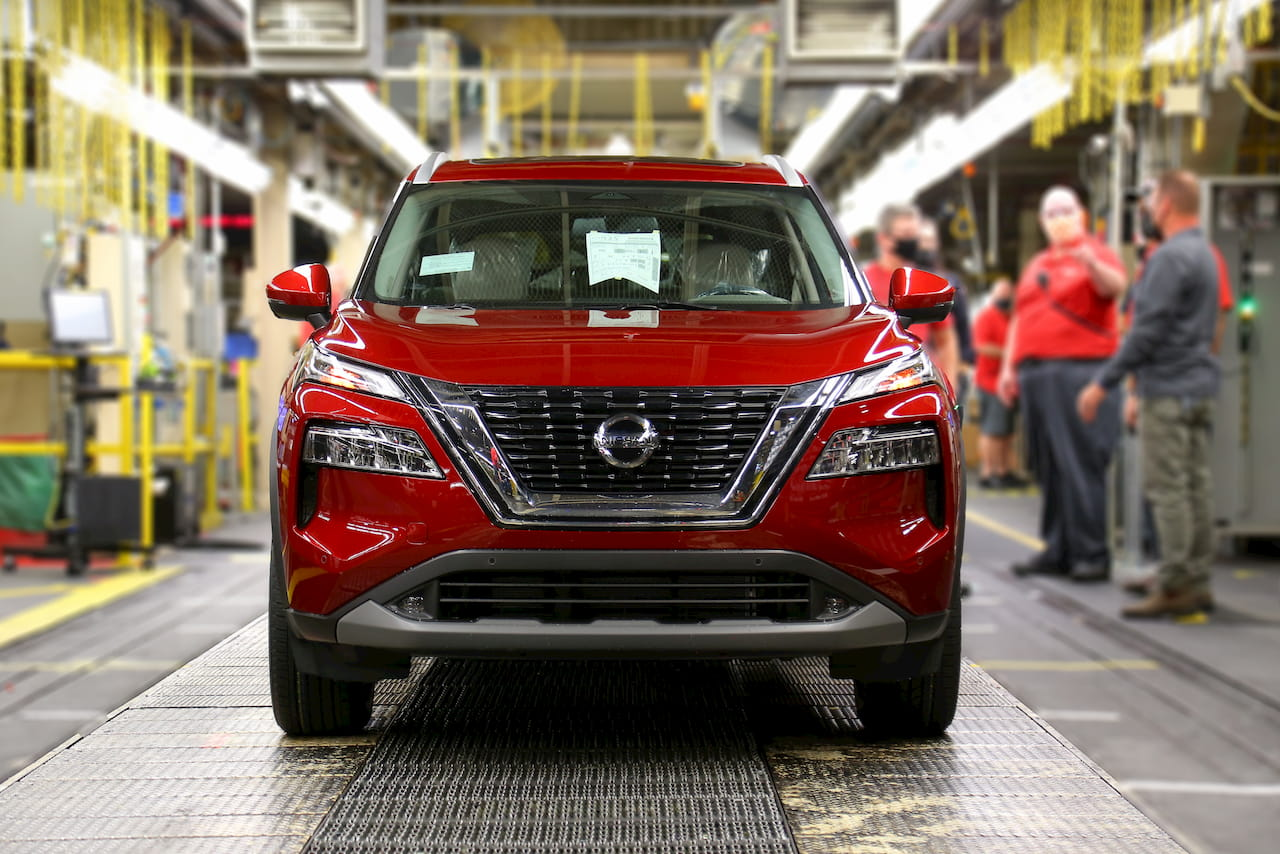 2021 Nissan Rogue Tennessee plant front