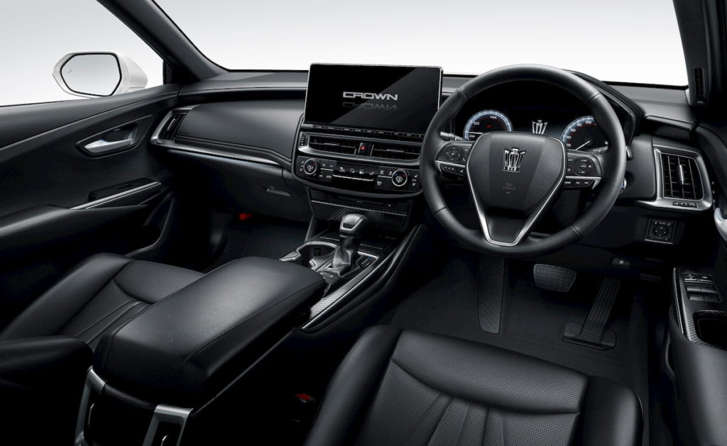 2021 Toyota Crown interior dashboard