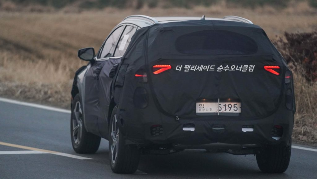 2022 Kia Sportage rear spy shot