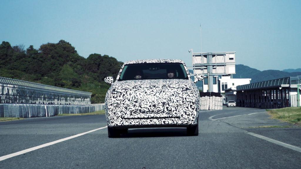 2022 Lexus electric SUV front