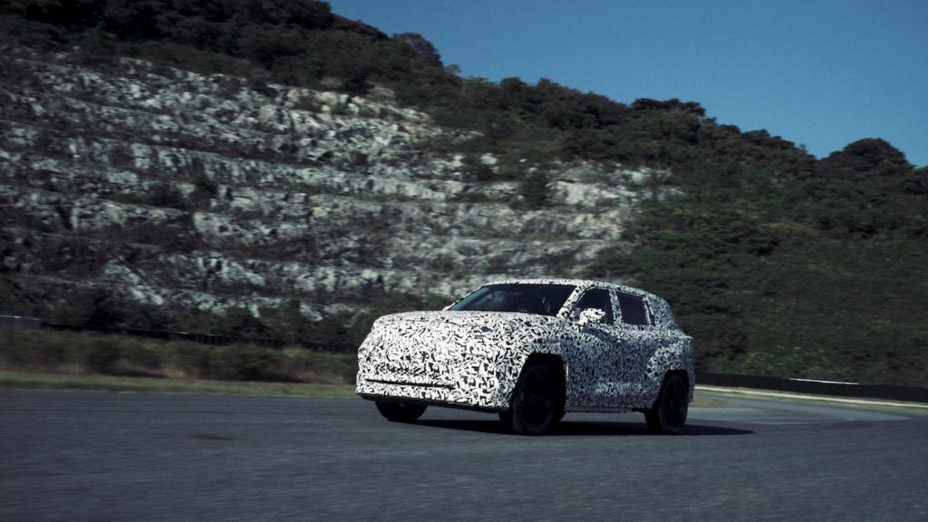 2022 Lexus electric SUV front quarters