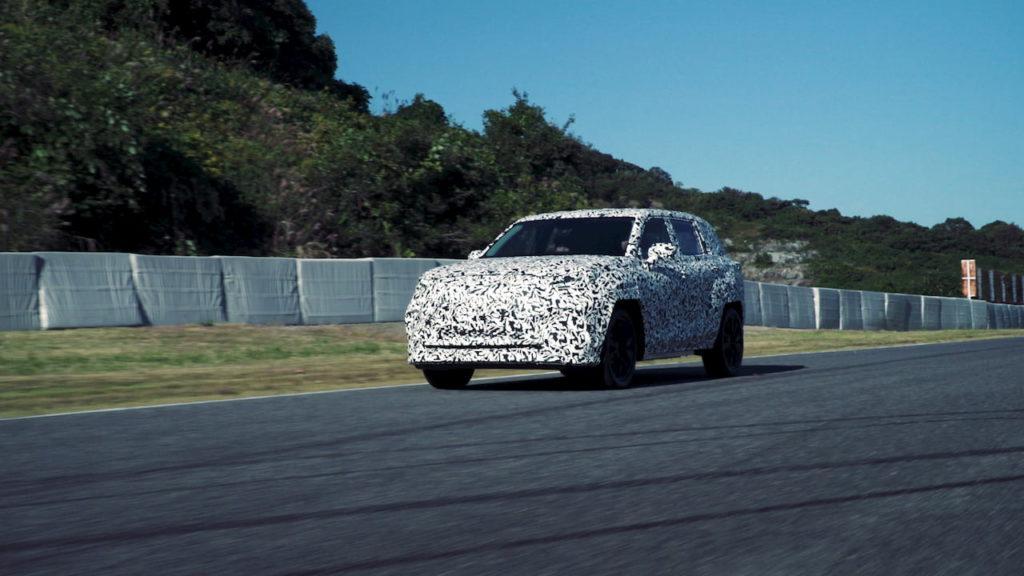 2022 Lexus electric SUV prototype