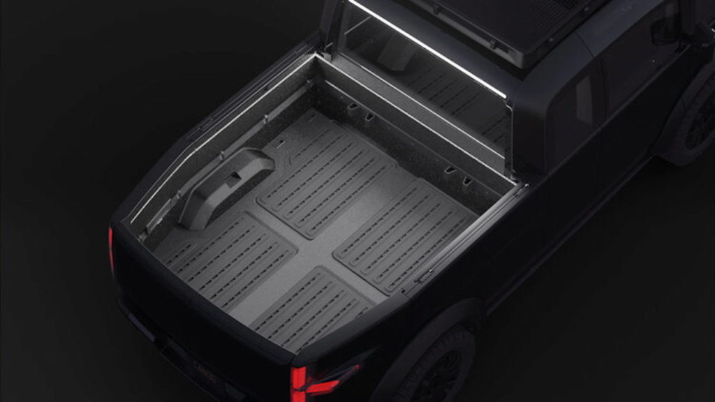 Canoo pickup truck bed lighting