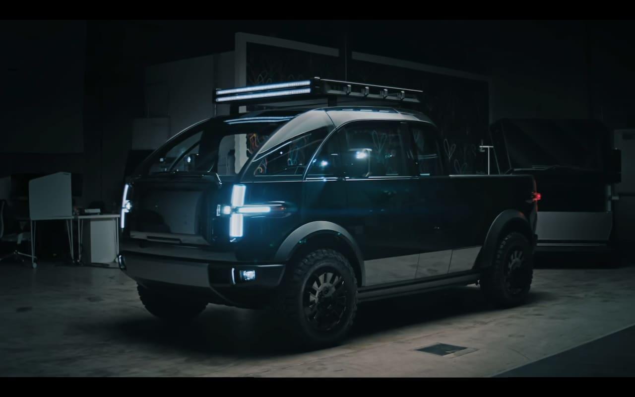 Canoo pickup truck exterior