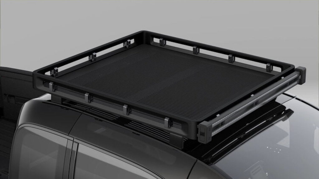 Canoo pickup truck roof rack