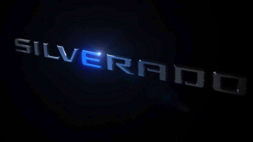 Chevrolet Silverado electric name teaser
