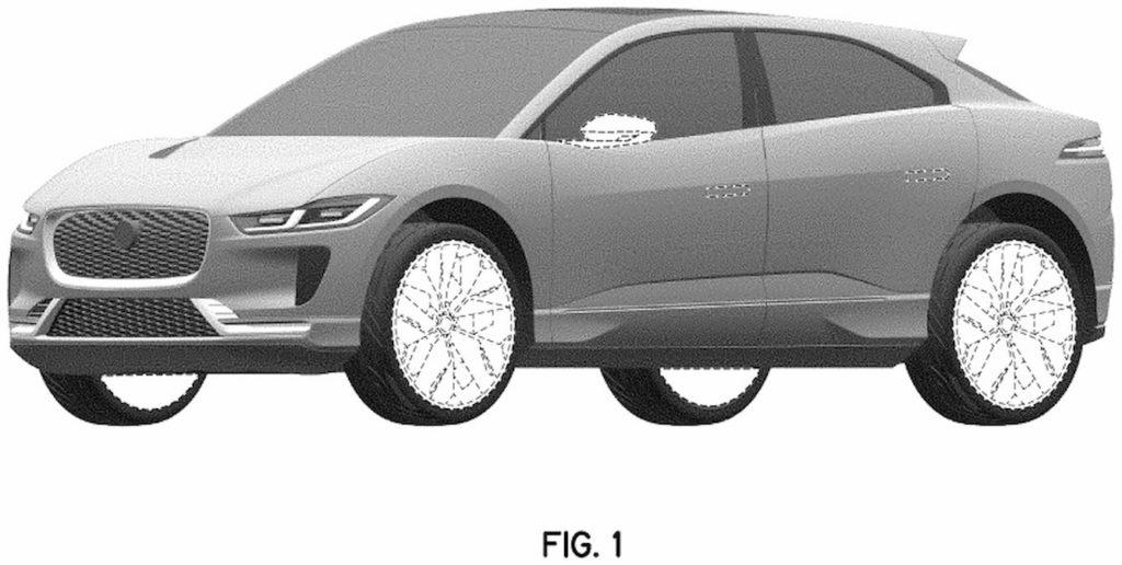 Jaguar I-Pace Concept front quarters patent image
