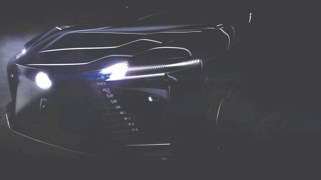 Lexus electric SUV teaser enhanced