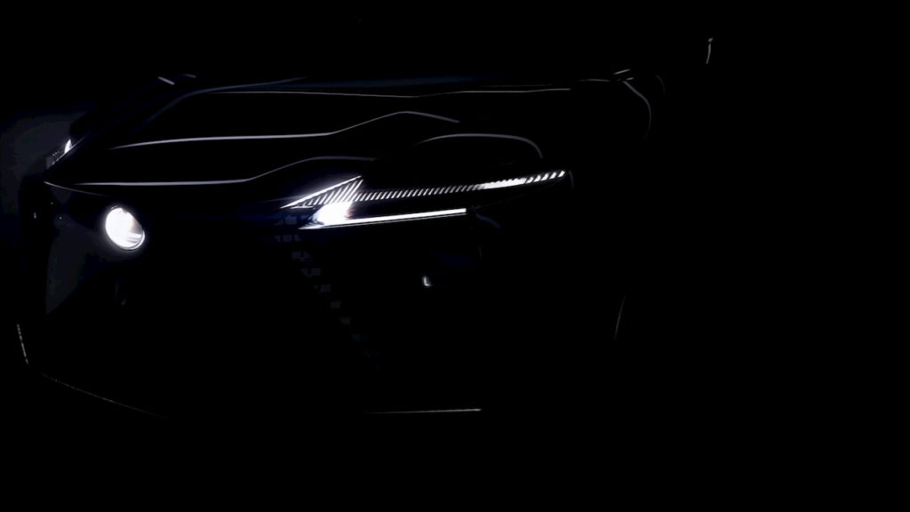 Lexus electric SUV teaser front 2021