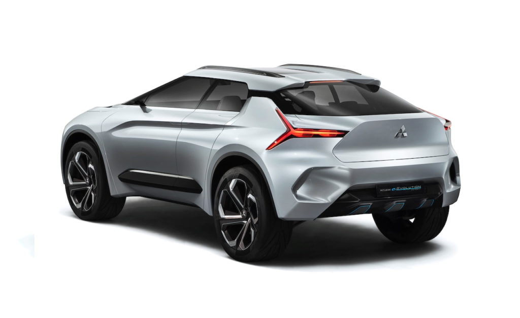 Mitsubishi e-evolution concept rear quarters