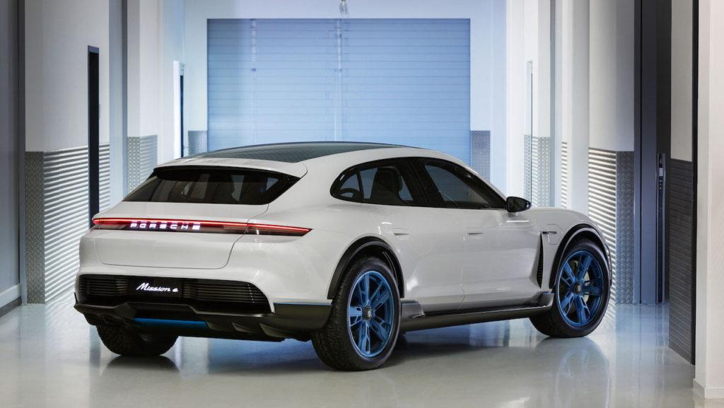 Porsche Mission E Cross Turismo rear quarters