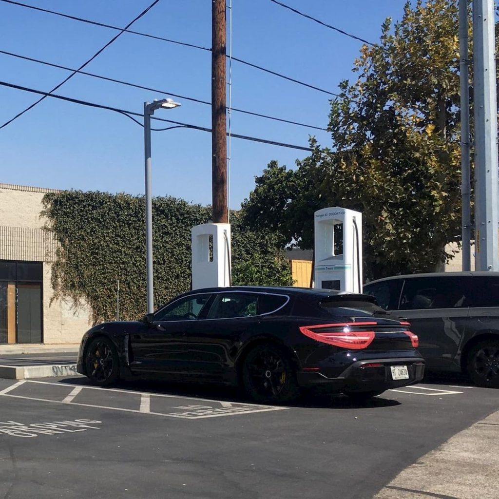 Porsche Taycan Cross Turismo spy shot USA