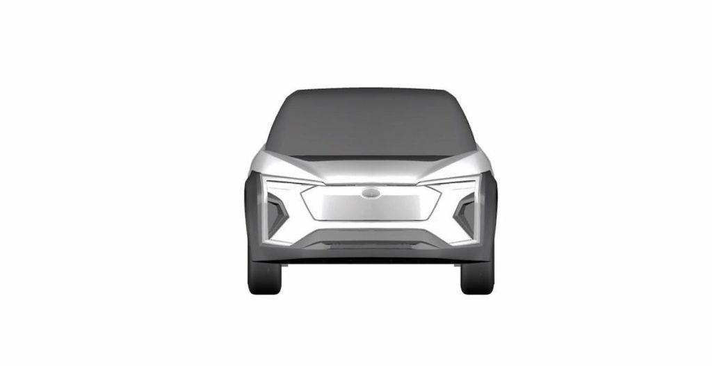 Subaru electric car Evoltis concept front patent image