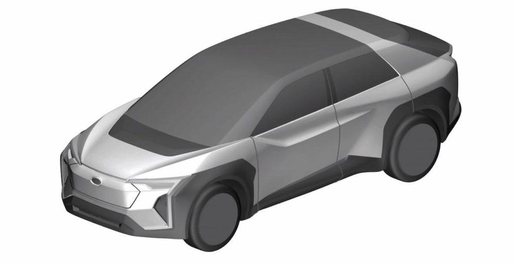 Subaru electric car Evoltis concept front quarters patent image