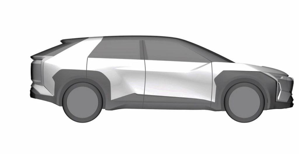 Subaru electric car Evoltis concept profile patent image
