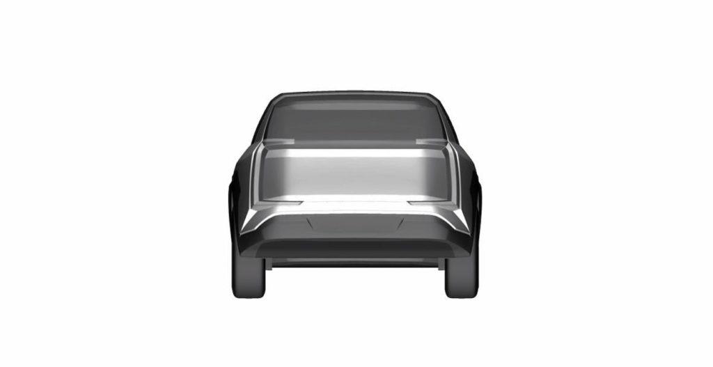 Subaru electric car Evoltis concept rear patent image