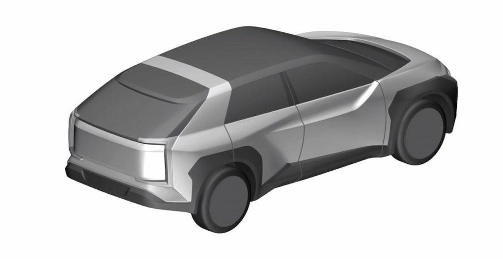 Subaru electric car Evoltis concept rear quarters patent image