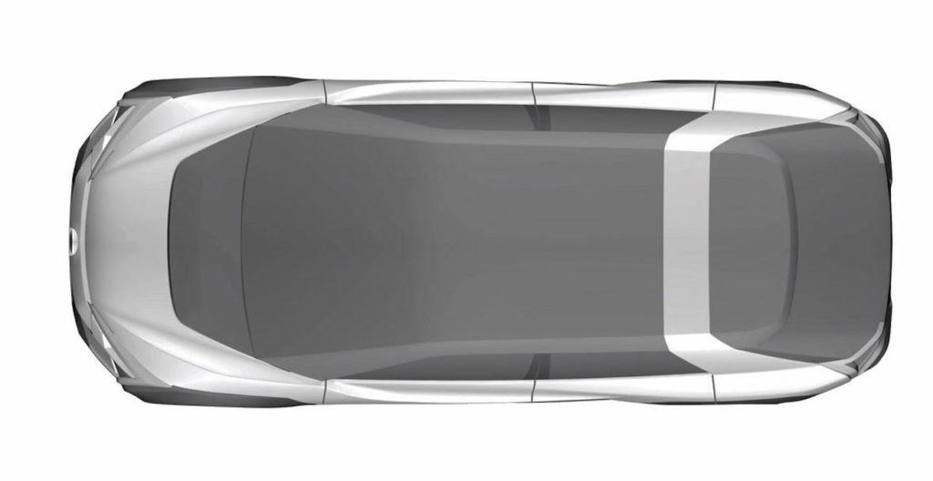 Subaru electric car Evoltis concept roof patent image