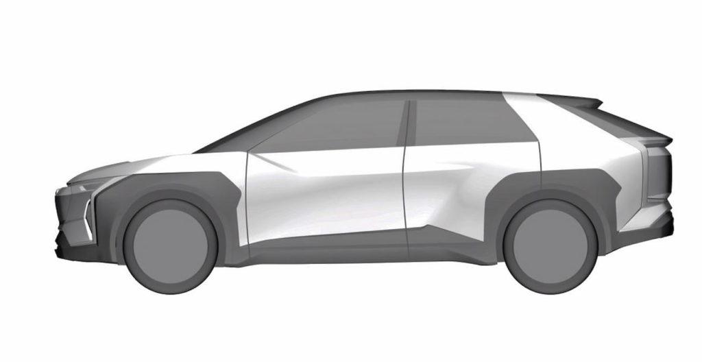 Subaru electric car Evoltis concept side patent image