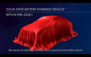 Toyota Solid State Battery Car Teased in December 2020