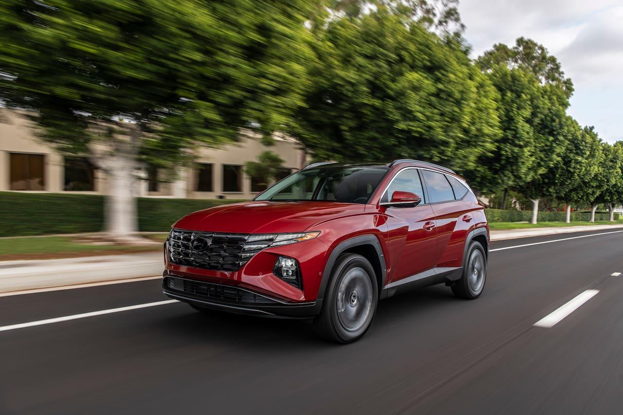 US-spec 2022 Hyundai Tucson front three quarters