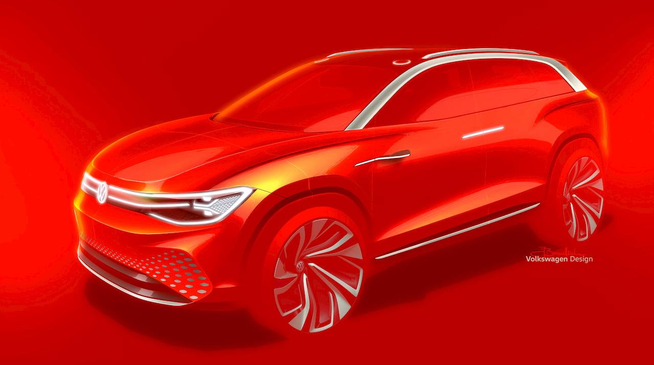 VW ID. Roomzz VW ID.6 concept teaser