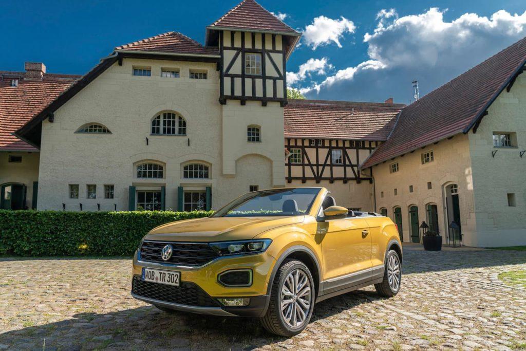 VW T-Roc Cabriolet front quarters