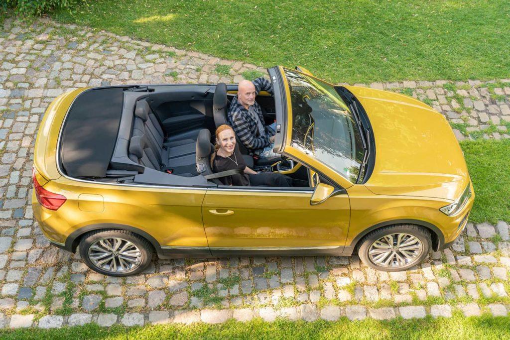 VW T-Roc Cabriolet top view
